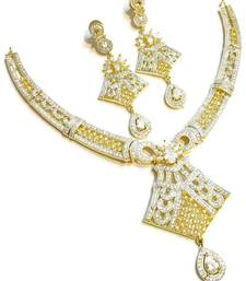 Buy RUBY AMERICAN DIAMOND NECKLACE SET bridal-set online