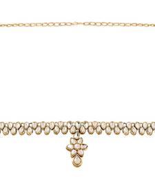 Buy Astonishing Gold Plated Kundan KamarBand For Women waist-belt online
