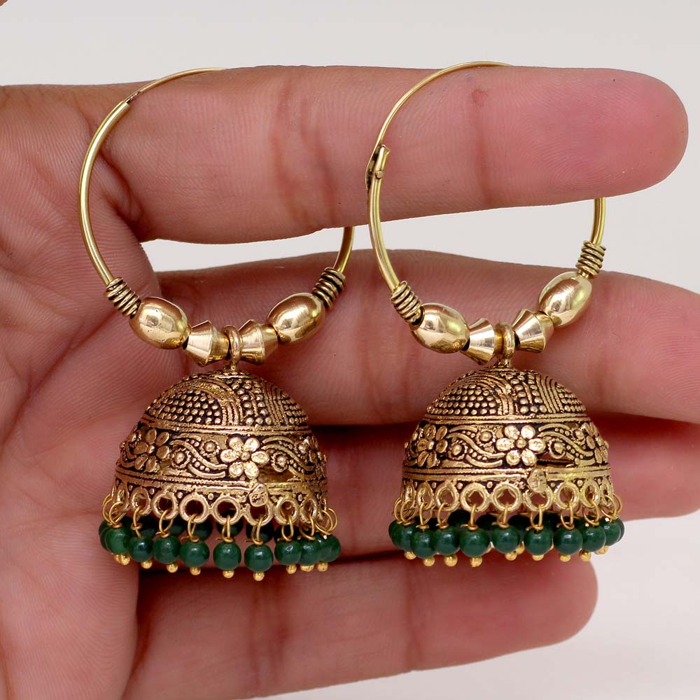 rajasthani william sydney silver christopher rajasthan glass foil tribal earrings gold jewellery old
