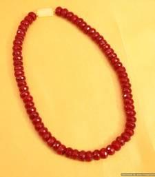 Buy Single Line Ruby Necklace Set Necklace online