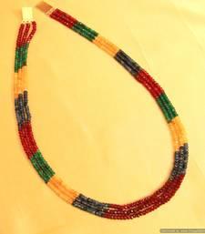 Buy Multicolour Semi Precious Necklace Set Necklace online