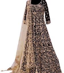 Buy Black  embroidered salwr suit lehenga-choli online