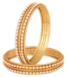 Buy White polki bangles and bracelets bangles-and-bracelet online