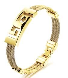 Buy Gold metallic mens accesories men-bracelet online