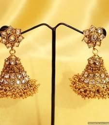 Buy Gold Look Zircon Jhumka's jhumka online