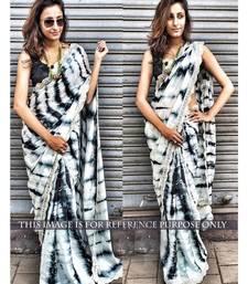 Buy Moss satin Animal Print Designer saree bollywood-saree online