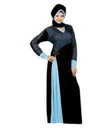 Buy Black embroidered straight stitched abaya eid-abaya online
