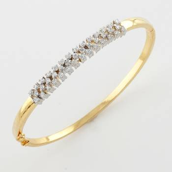Versatile American Diamond Bracelet With Silver Rhodium