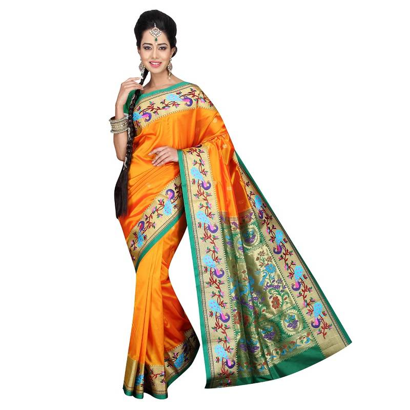 Buy GOLD Traditional Paithani Sarees Online