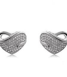 Buy Silvery Love Earrings stud online