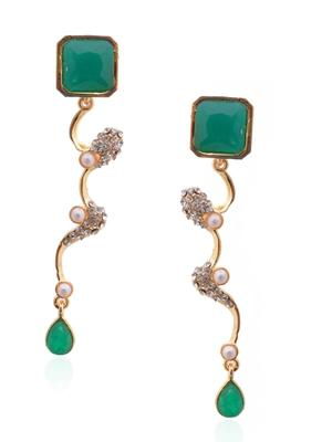 Sage Green Stud Encrypt Earrings