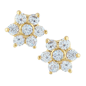 White american diamonds earrings