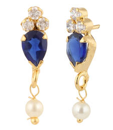 Buy Blue american diamonds earrings stud online