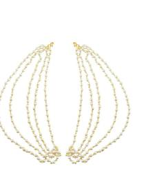 Buy Gold plated pearl ear chain Other online
