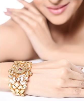 A lovely  Ruby  Kundan bracelet