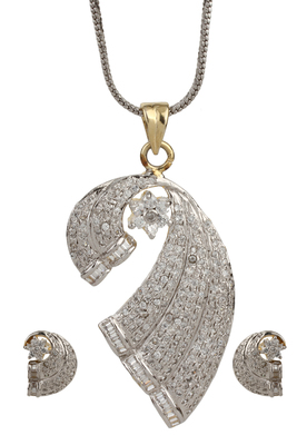 HAPPINESS Collection Two Tone 18K Gold Plated Imitation Pendant Set