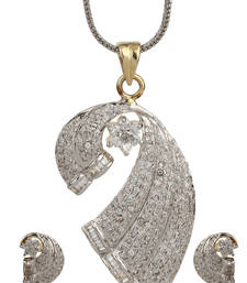 Buy HAPPINESS Collection Two Tone 18K Gold Plated Imitation Pendant Set Pendant online