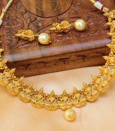 Buy Beautiful high gold temple necklace set south-indian-jewellery online