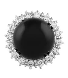 Buy Onyx black silver plated rings Ring online