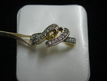 One gram gold diamond studded stunning ring