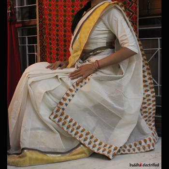 Ethnic Saree - Cream Dreams