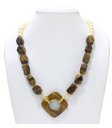 Buy Tiger eye stone necklace party-jewellery online