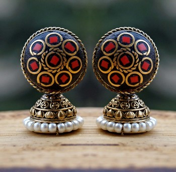 cute lakh red studs