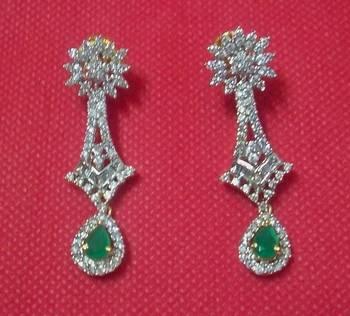 Designer Shining CZ Earrings - Danglers