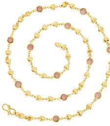 Buy Hearts Gold Plated Chain For Women Other online