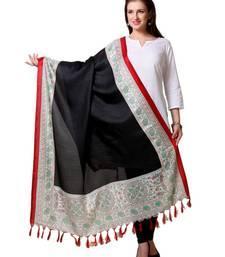 Buy Multicolor Art silk printed dupatta stole-and-dupatta online