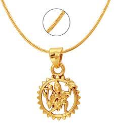 Buy Hanuman Gold Plated Religious God Pendant with Chain for Men & Women PS6012008G Pendant online