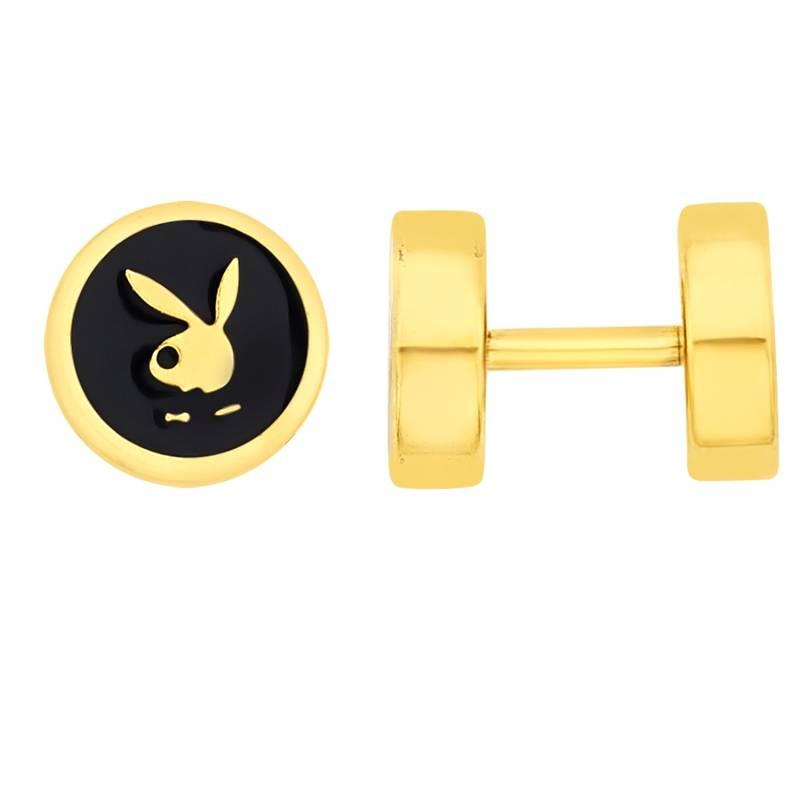 Buy Earrings for Men Boys Studs Gold Playboy Inspired Piercing ...