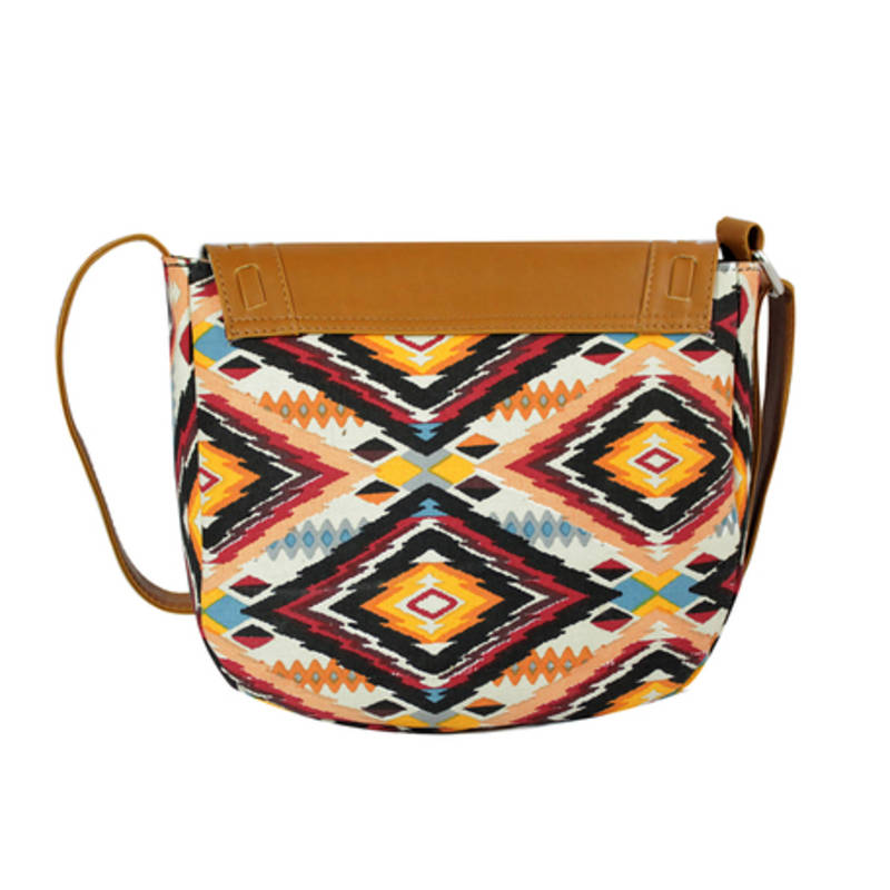 Buy Multicolour canvas printed sling bags Online