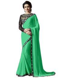 Buy Satin saree by fabkaz (Green) satin-saree online