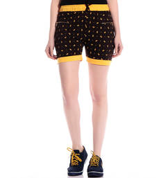 Buy Yellow printed cotton shorts short online