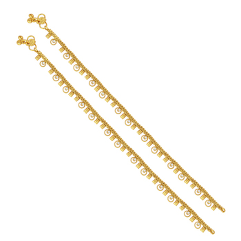 Brilliant gold plated anklet for women