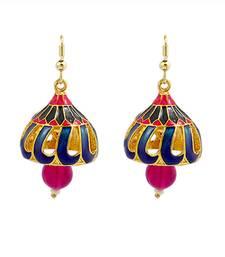 Buy Meenakari bali Jhumki  Set danglers-drop online