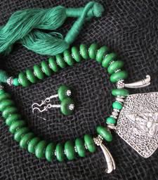 Buy Ethnic thread mala necklace-set online