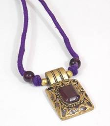 Buy Purple gold plated crystal necklaces Necklace online