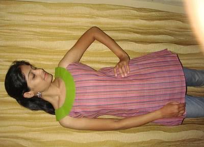 Pink and green Mangalgiri cotton kurti