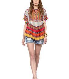 Buy Multicolor georgette printed tops party-top online