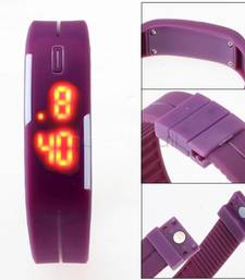 Buy Purple rubber watches for women gifts-for-kid online