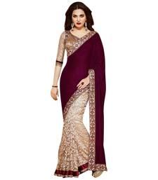 Buy Murun printed Chiffon saree With Blouse chiffon-saree online