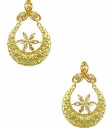 Buy Golden Beige Designer Dangle Earrings Jewellery for Women - Orniza danglers-drop online