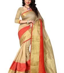 Buy Chikku plain art silk saree With Blouse art-silk-saree online
