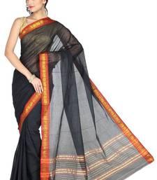 Buy Pavecha's Mangalgiri Cotton Saree - Madhuri Black MK739 cotton-saree online