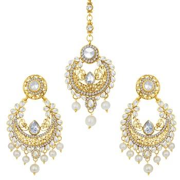 Splendid Gold Plated AD Earring For Women