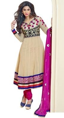 Triveni Amazing Broad Border Embroidery Anarkali Suit TSXRDSK1006