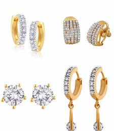 Buy American diamond earrings - Pack of 4 combo-earring online