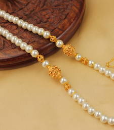 Buy MESMERISING HANDMADE PEARL BEADES NECKLACE SET-DJ04215 south-indian-jewellery online